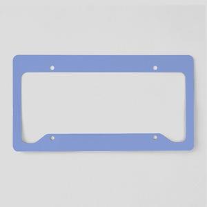 Solid Light Blue License Plate Holder