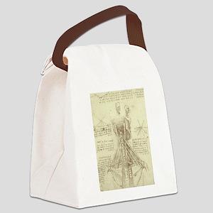 Spinal Column by Leonardo da Vin Canvas Lunch Bag