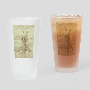Spinal Column by Leonardo da Vinci Drinking Glass