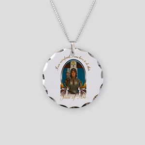 Joan of Arc Nouveau Necklace Circle Charm
