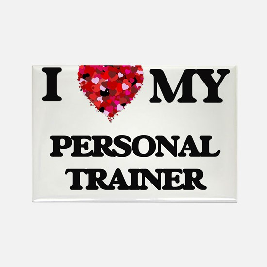 I love my Personal Trainer hearts design Magnets
