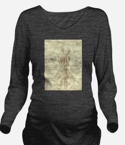 Spinal Column by Le Long Sleeve Maternity T-Shirt