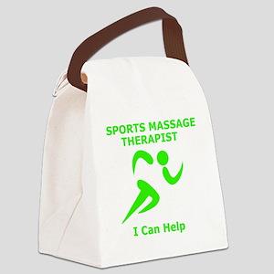 Massage Therapist Eye Catching De Canvas Lunch Bag