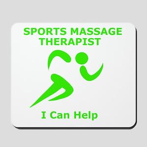 Massage Therapist Eye Catching Design Mousepad