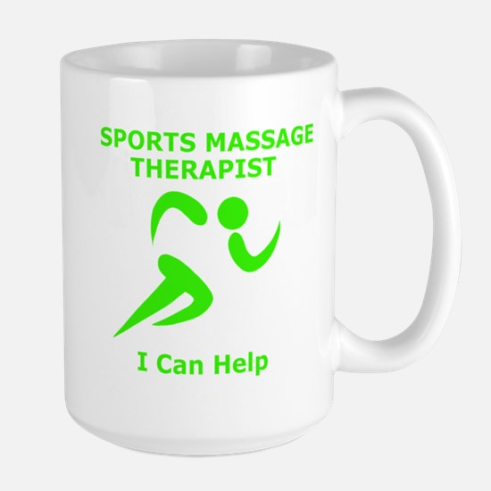 Massage Therapist Eye Catching Design Large Mug