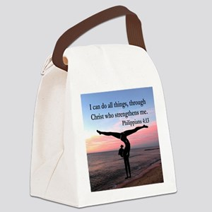 CHRISTIAN GYMNAST Canvas Lunch Bag