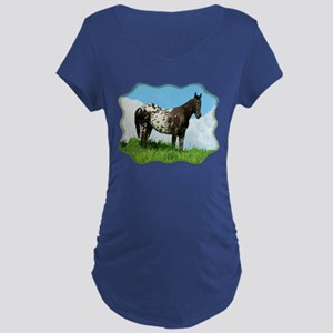 Blanket Appaloosa Horse Dark Maternity T-Shirt