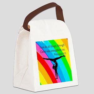 CHRISTIAN GYMNAST Canvas Lunch Bag