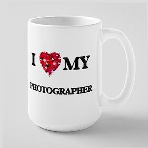 I love my Photographer hearts design Mugs
