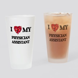 I love my Physician Assistant heart Drinking Glass