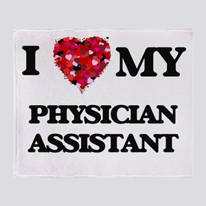 I love my Physician Assistant hearts Throw Blanket