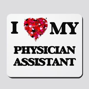 I love my Physician Assistant hearts des Mousepad