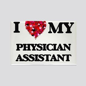 I love my Physician Assistant hearts desig Magnets