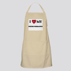 I love my Physiotherapist hearts design Apron