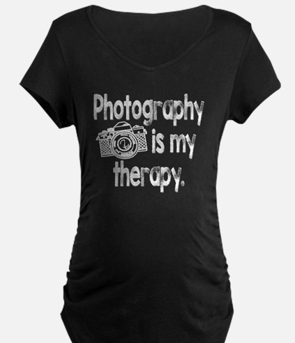 Photography is My Therapy Maternity T-Shirt