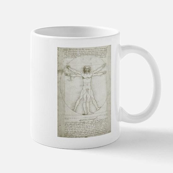 Vitruvian Man by Leonardo da Vinci Mugs