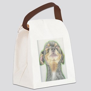 Black and Tan Chihuahua Dog Canvas Lunch Bag
