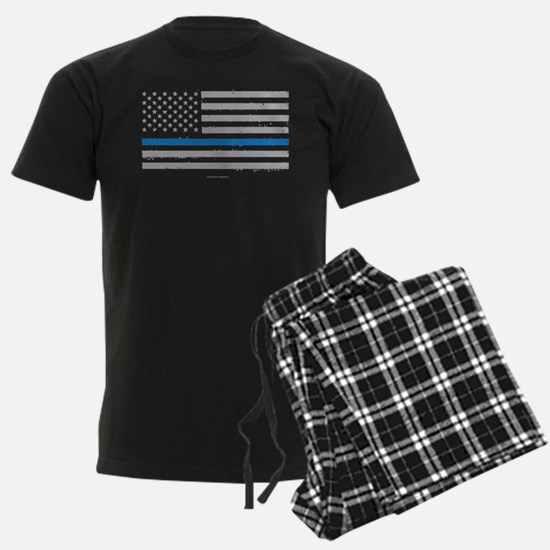 Law Enforcement Blue Line Flag Pajamas