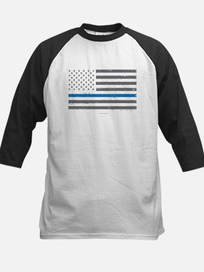 Law Enforcement Blue Line Flag Baseball Jersey