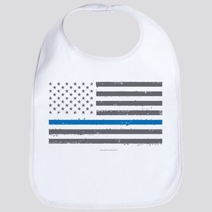 Law Enforcement Blue Line Flag Bib
