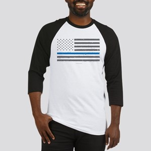 Law Enforcement Blue Line Flag Baseball Jersey