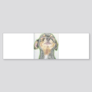 Black and Tan Chihuahua Dog Bumper Sticker