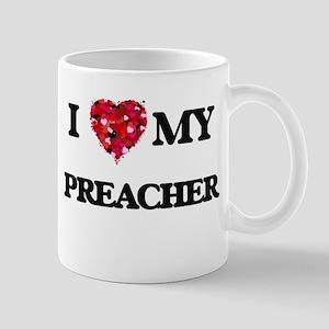 I love my Preacher hearts design Mugs