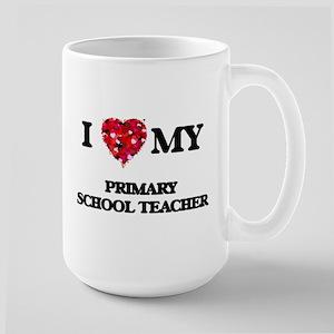 I love my Primary School Teacher hearts desig Mugs