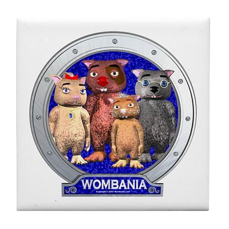 Wombies' Blue Group Portrait Tile Coaster