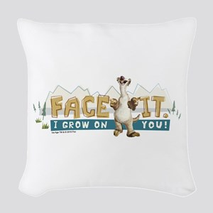 Ice Age Face It Woven Throw Pillow