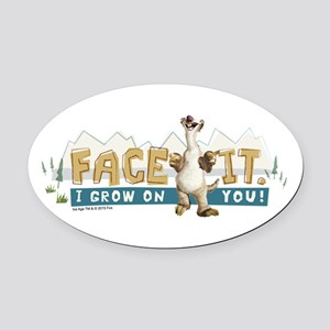 Ice Age Face It Oval Car Magnet