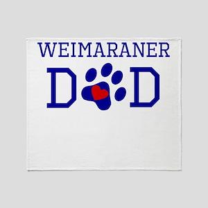 Weimaraner Dad Throw Blanket