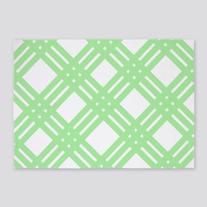 Mint Green Gingham Lattice 5'x7'Area Rug