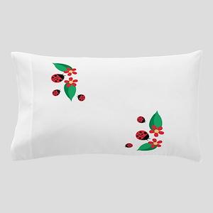 Ladybug Flowers Pillow Case
