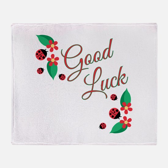 Good Luck Throw Blanket