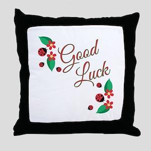 Good Luck Throw Pillow
