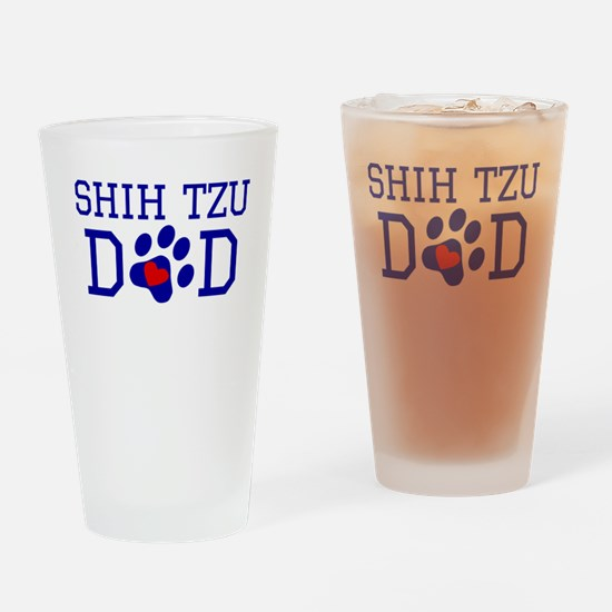 Shih Tzu Dad Drinking Glass