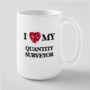 I love my Quantity Surveyor hearts design Mugs