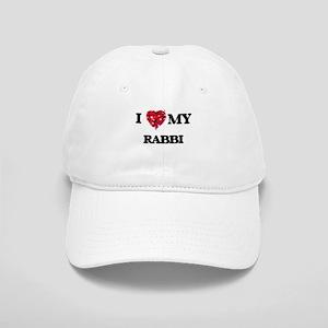 I love my Rabbi hearts design Cap