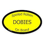 Spoiled Dobies On Board Oval Sticker