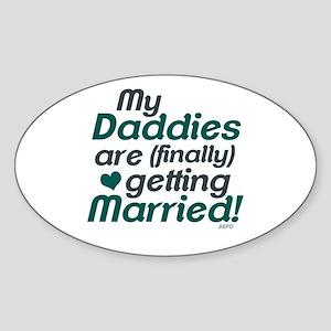 My 2 Daddies Wedding Sticker (Oval)