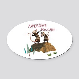 Ice Age Awesome Oval Car Magnet