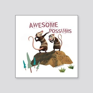 "Ice Age Awesome Square Sticker 3"" x 3"""