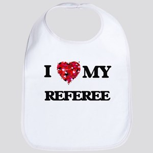 I love my Referee hearts design Bib