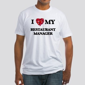 I love my Restaurant Manager hearts design T-Shirt