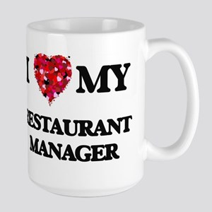 I love my Restaurant Manager hearts design Mugs