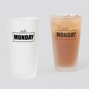 Hello Monday Drinking Glass