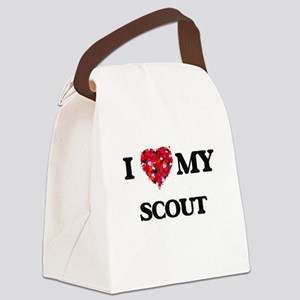 I love my Scout hearts design Canvas Lunch Bag