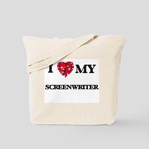 I love my Screenwriter hearts design Tote Bag