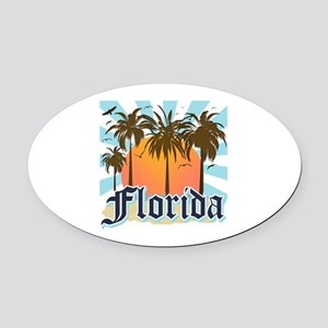 Florida The Sunshine State Oval Car Magnet